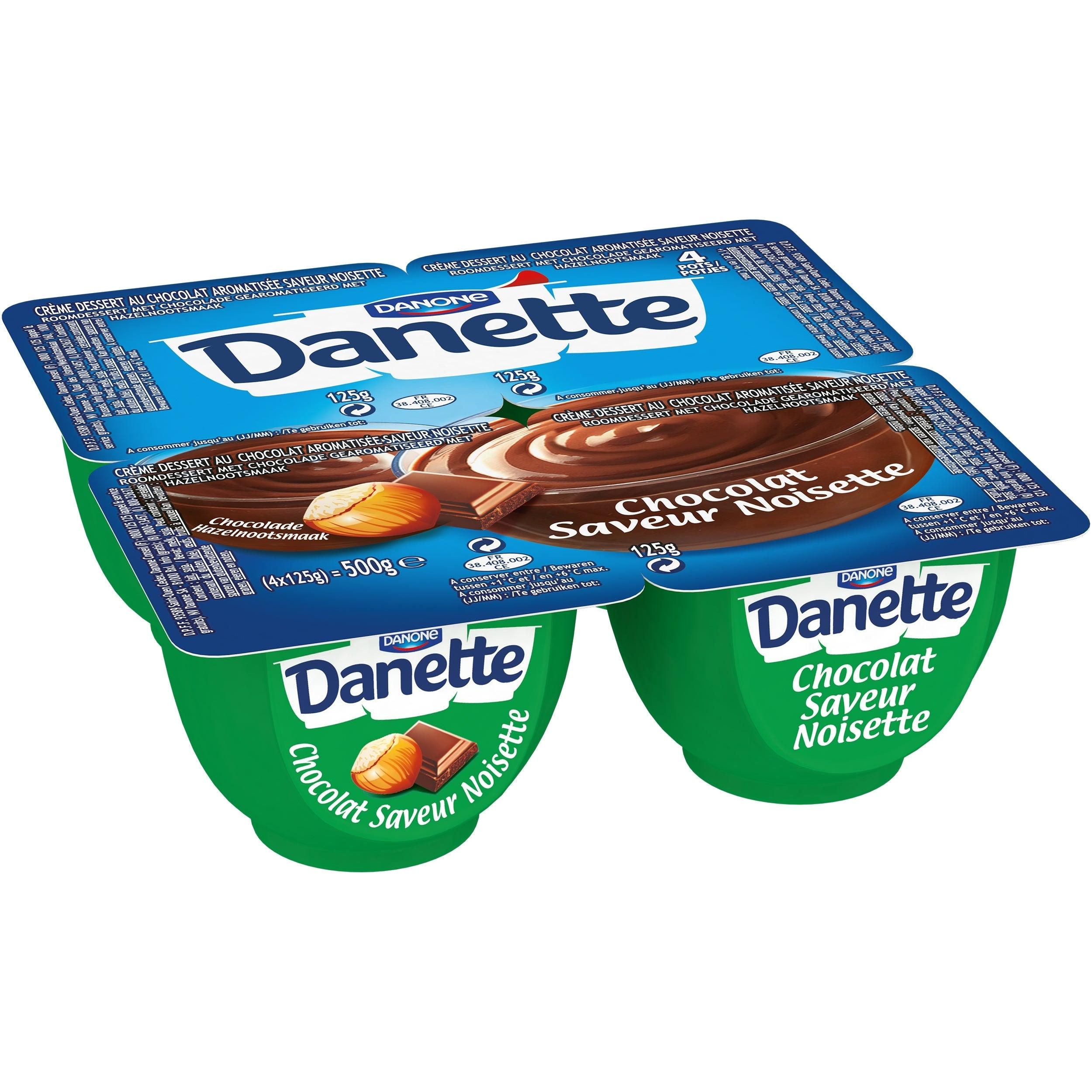 Danette Chocolat-Noisette 4x125g