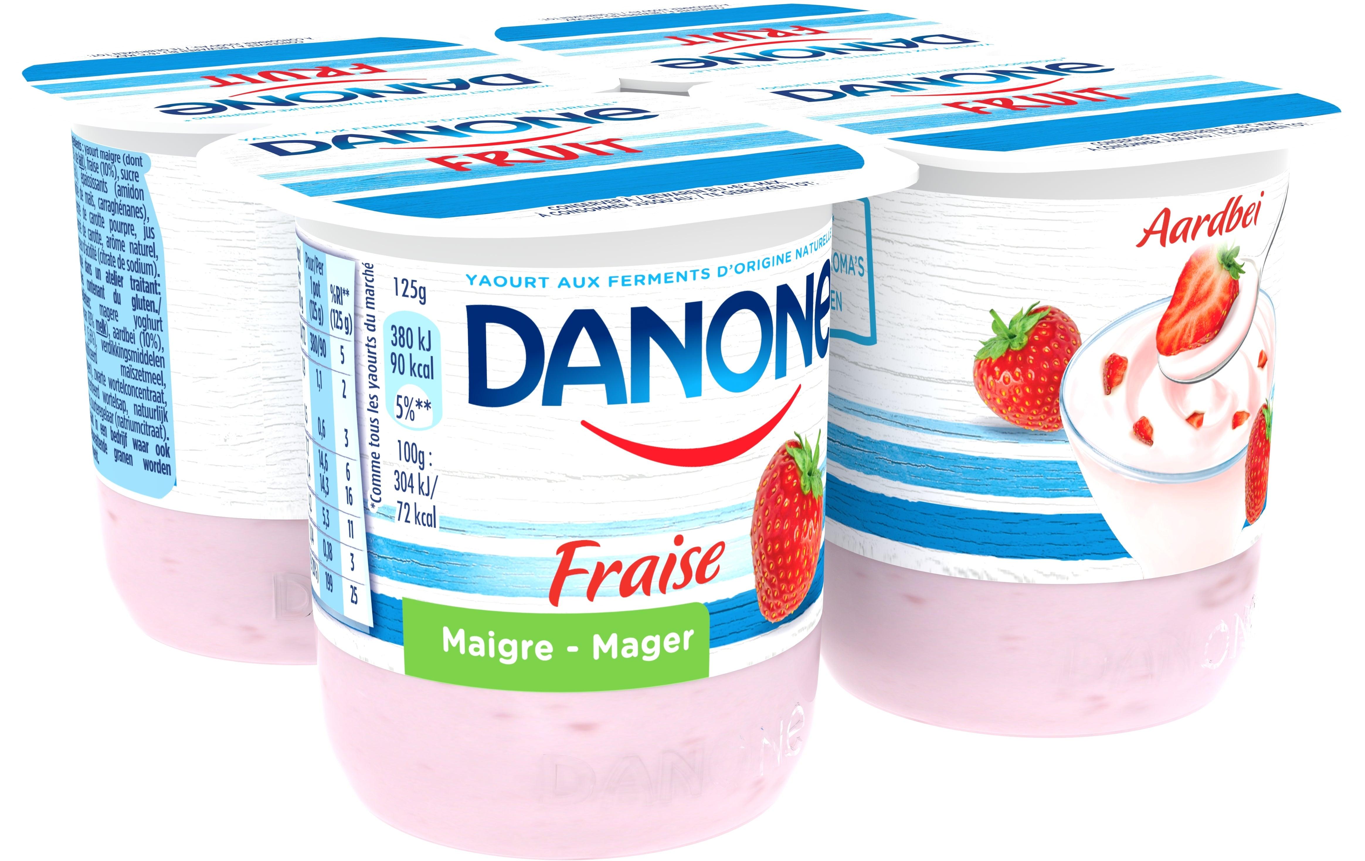 Danone Yaourts Maigre 4x125gr Fraise