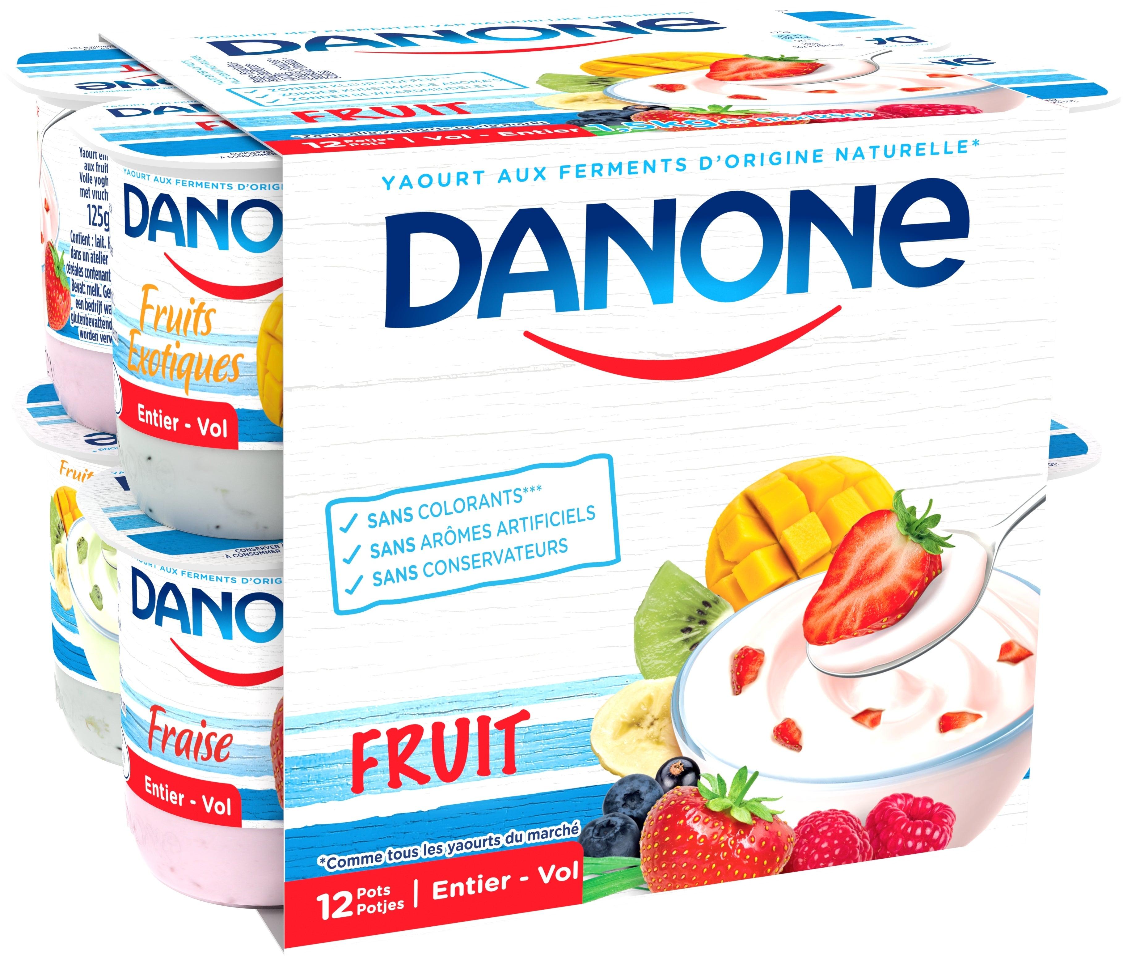Danone Volle Yoghurt 12x125gr met Vruchten