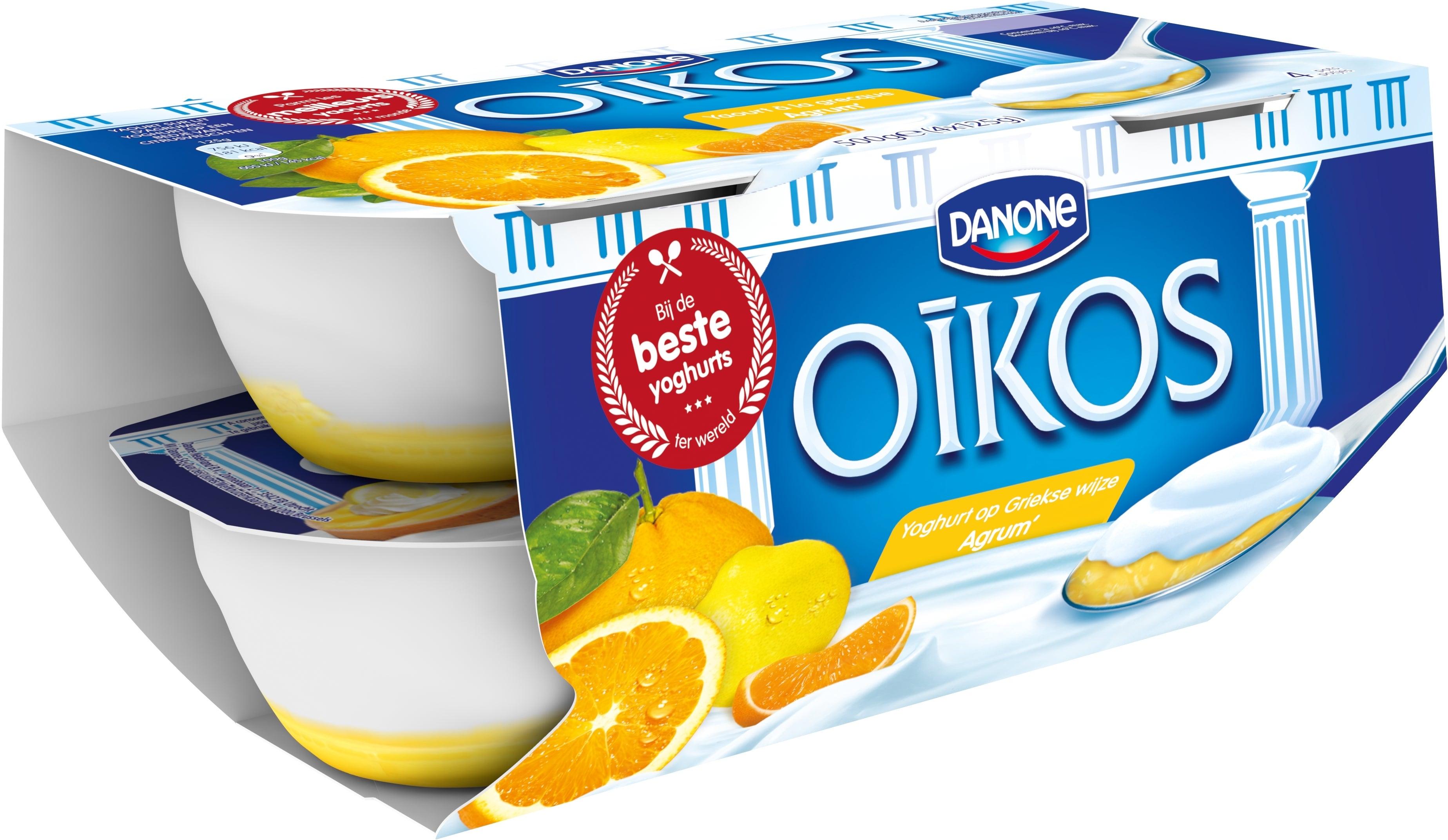 Oikos Yoghurt Vol Citrusvruchten 4x125g