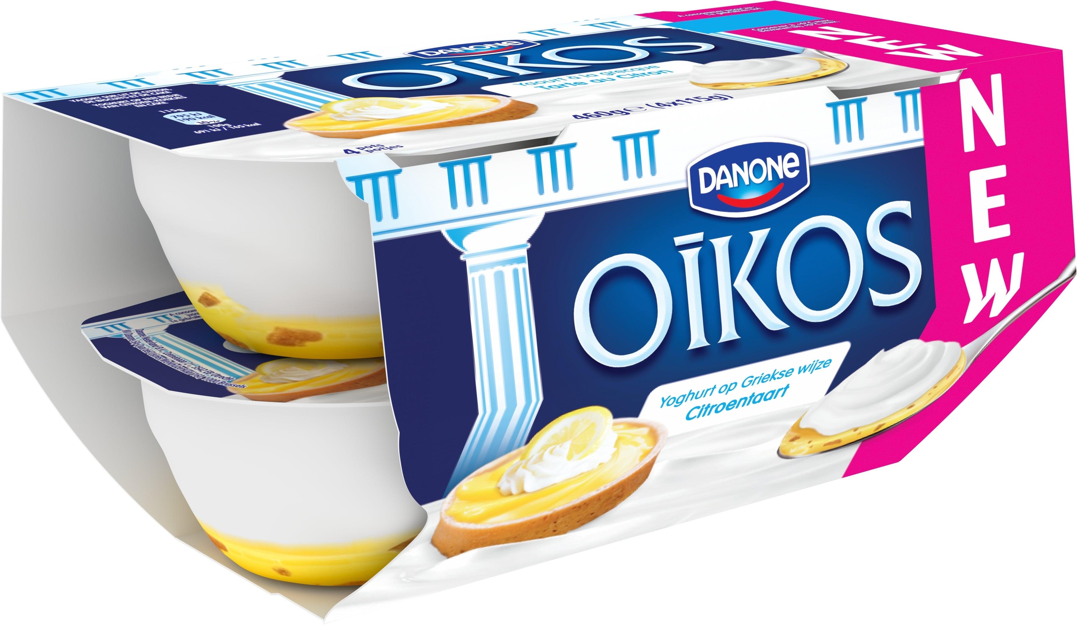 Oikos Yaourt Entier Saveur Tarte au Citron 4x115gr