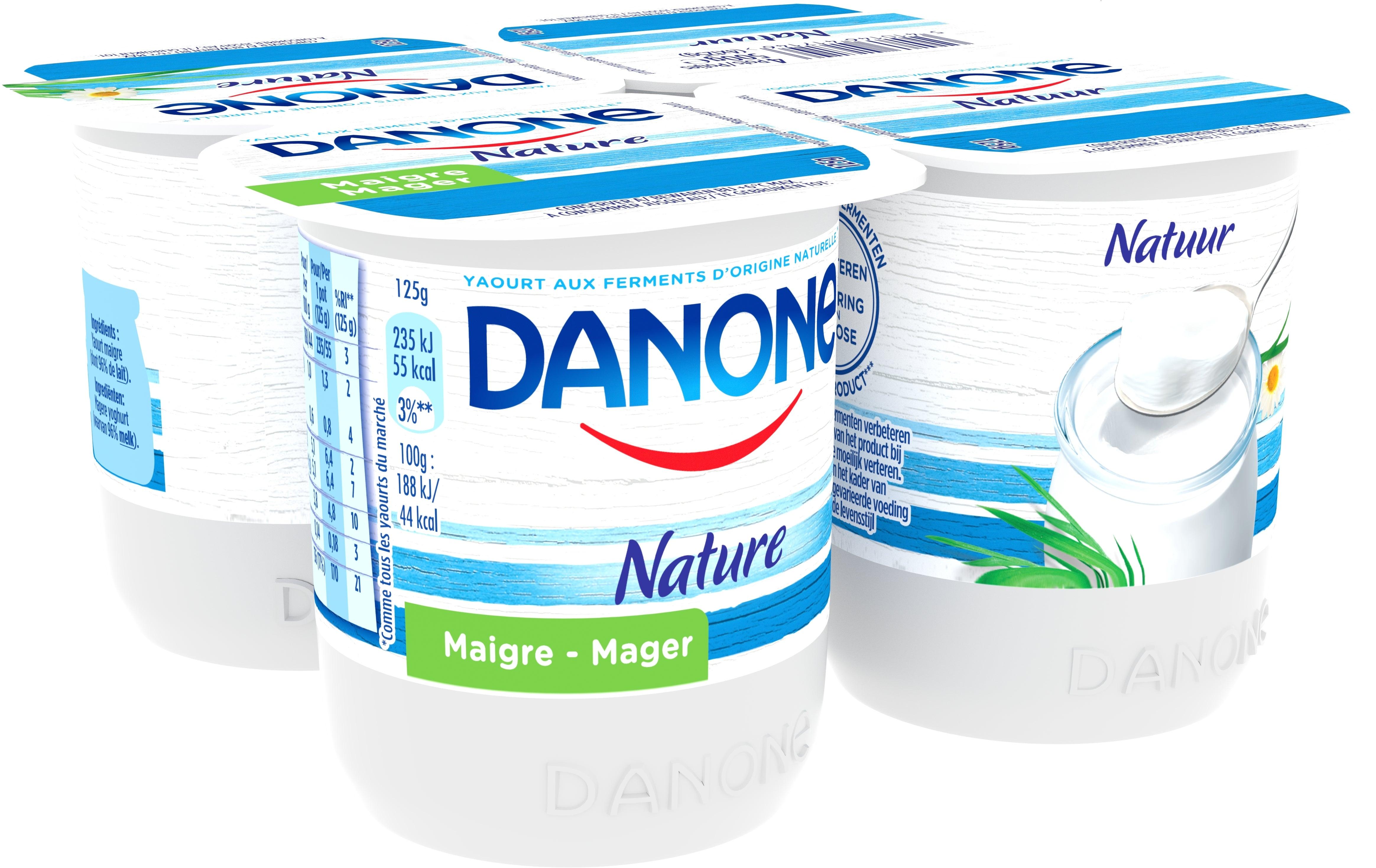 Danone Magerre Yoghurt 4x125gr Natuur