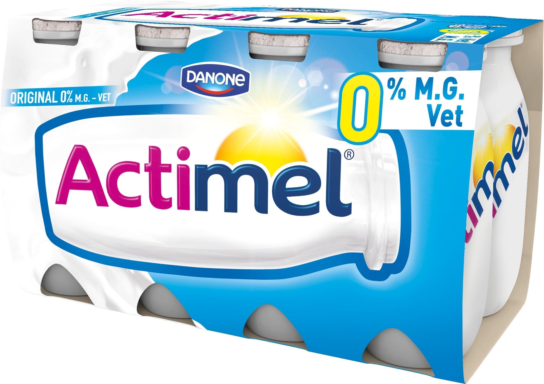 Actimel yaourt à boire 0% 8x100ml Nature