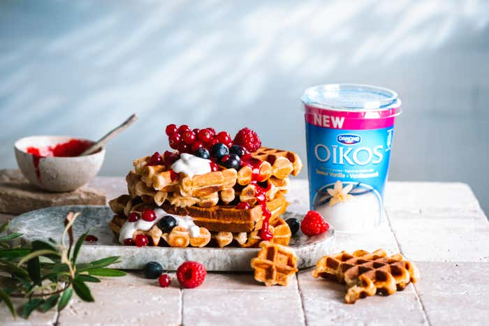 GAUFRES OIKOS VANILLE & FRUITS ROUGES