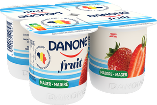 Danone aux Fruits - Fraise