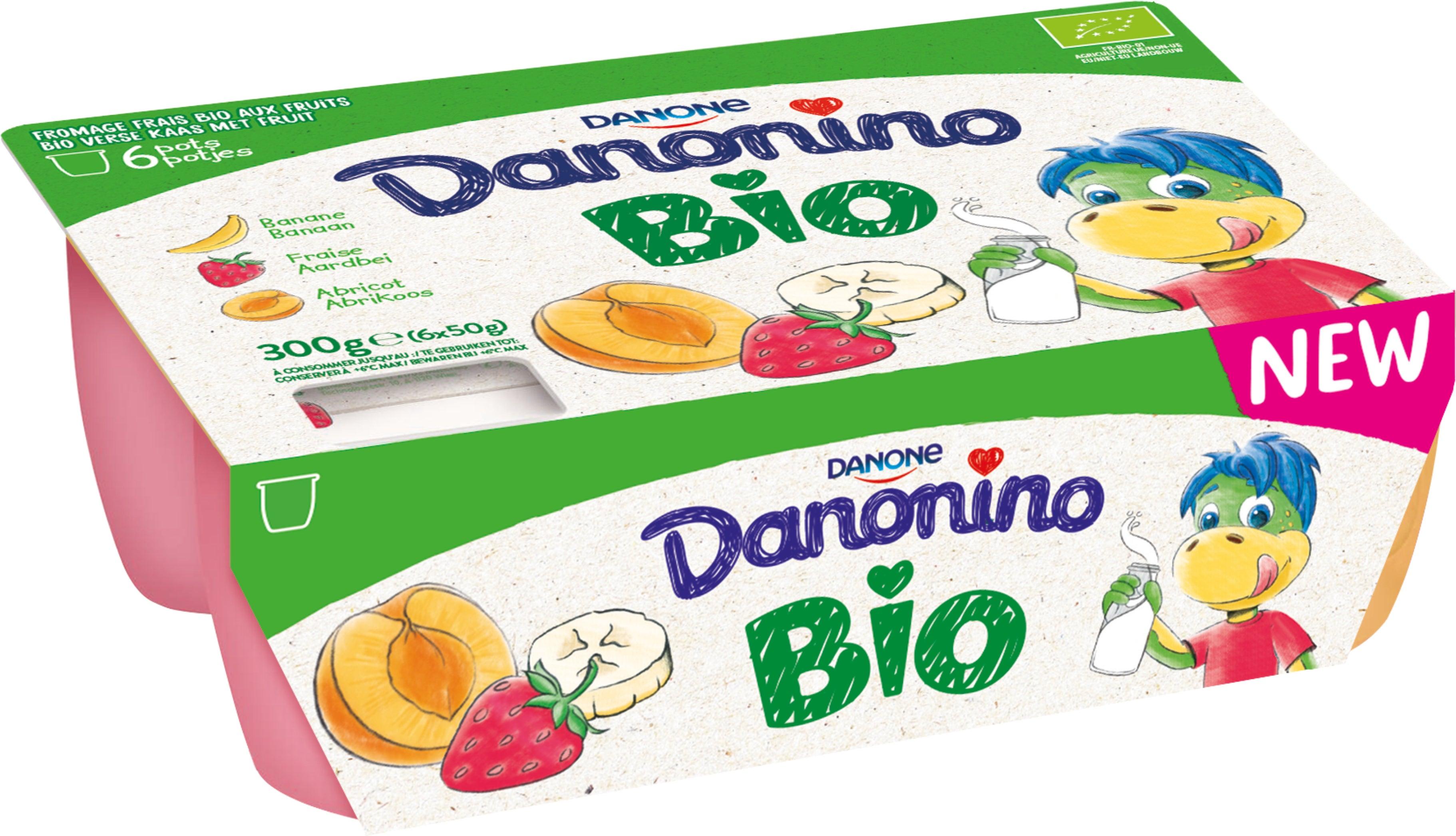 Danonino Fruitkaas Bio 6x50 gr Panaché