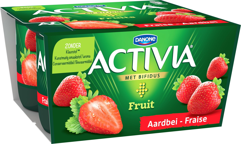Activia Fraise Entier 4x125g
