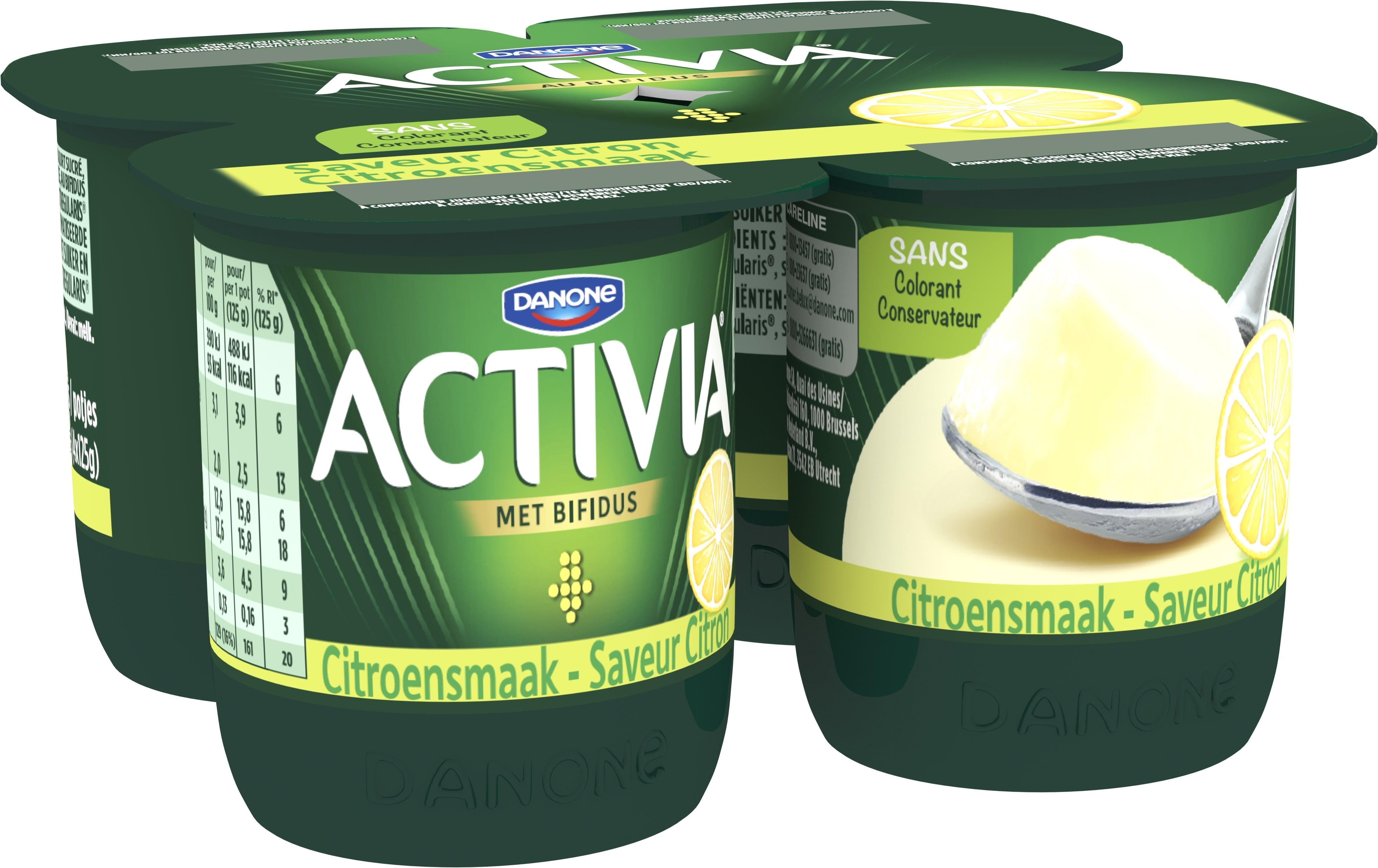 Activia Yaourt Saveur Citron 4x125g