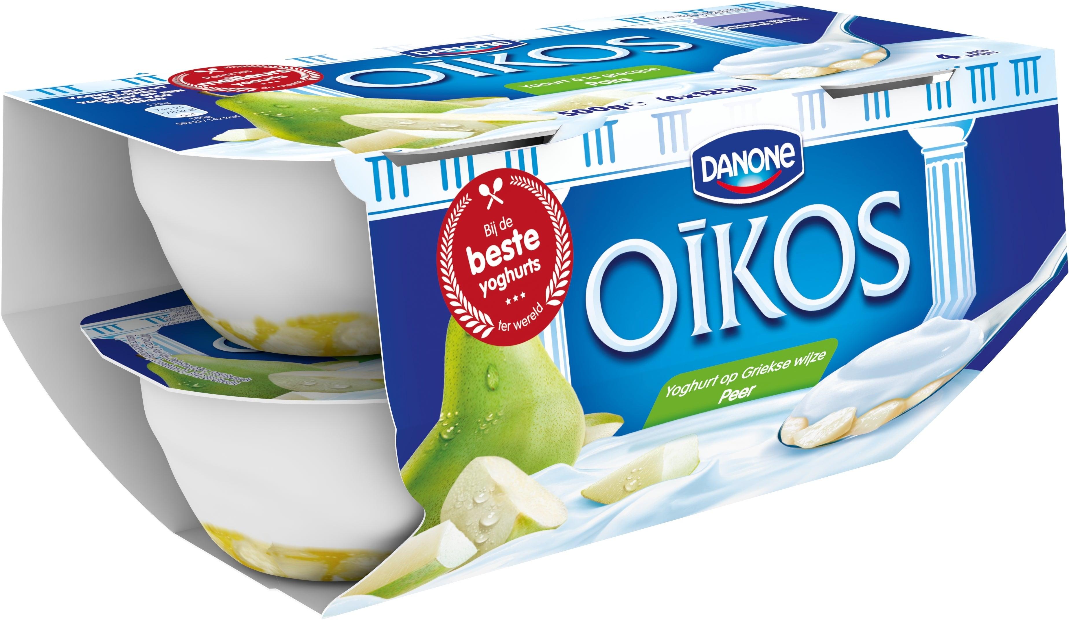 Oikos Yoghurt Vol Peer 4x125g