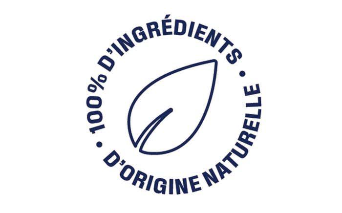 Ingrédients 100% d'origine naturelle