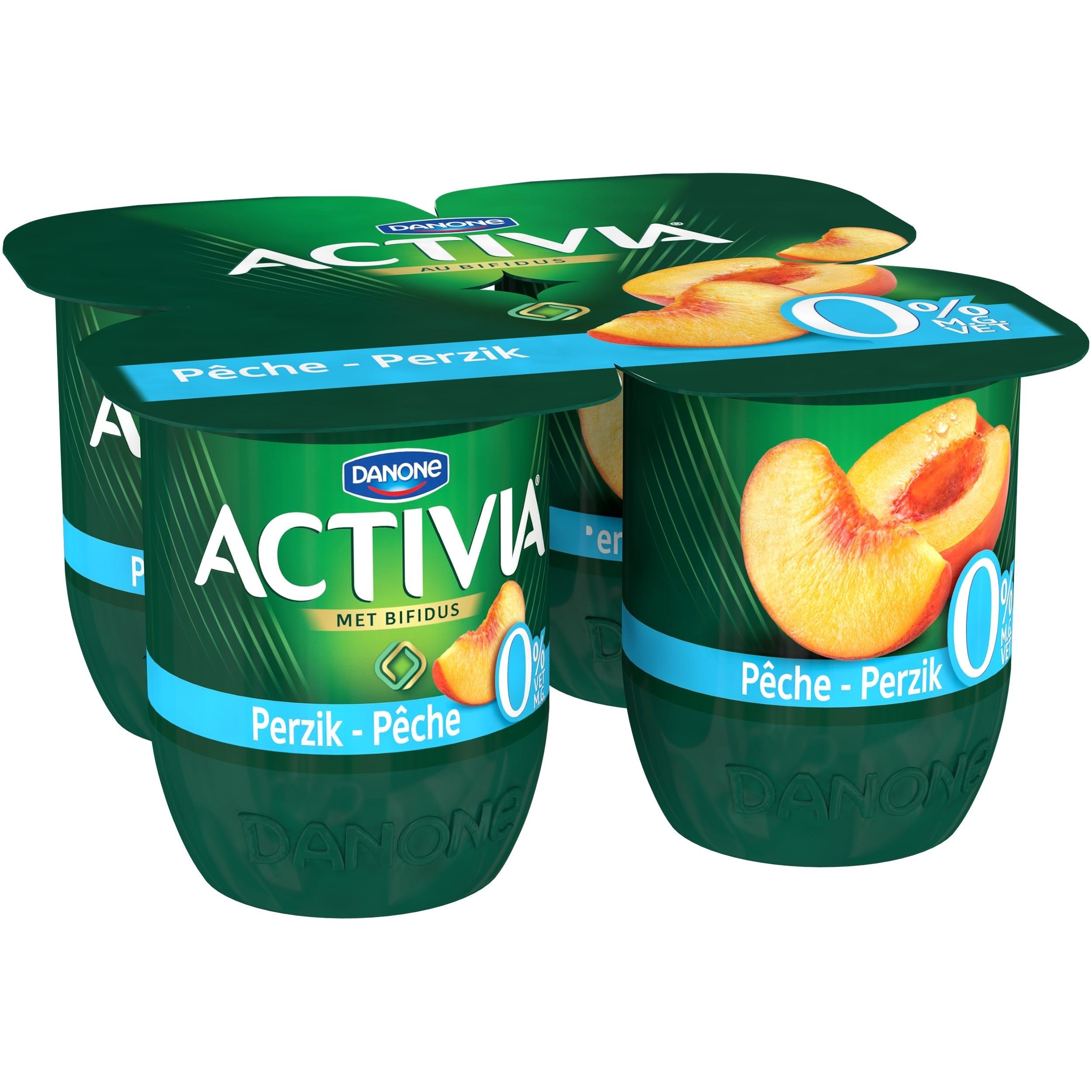 Activia Pêche 0% m.g. 4x125g