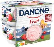 Danone aux Fruits - Fruits Exotiques Fraise Framboise Myrtille