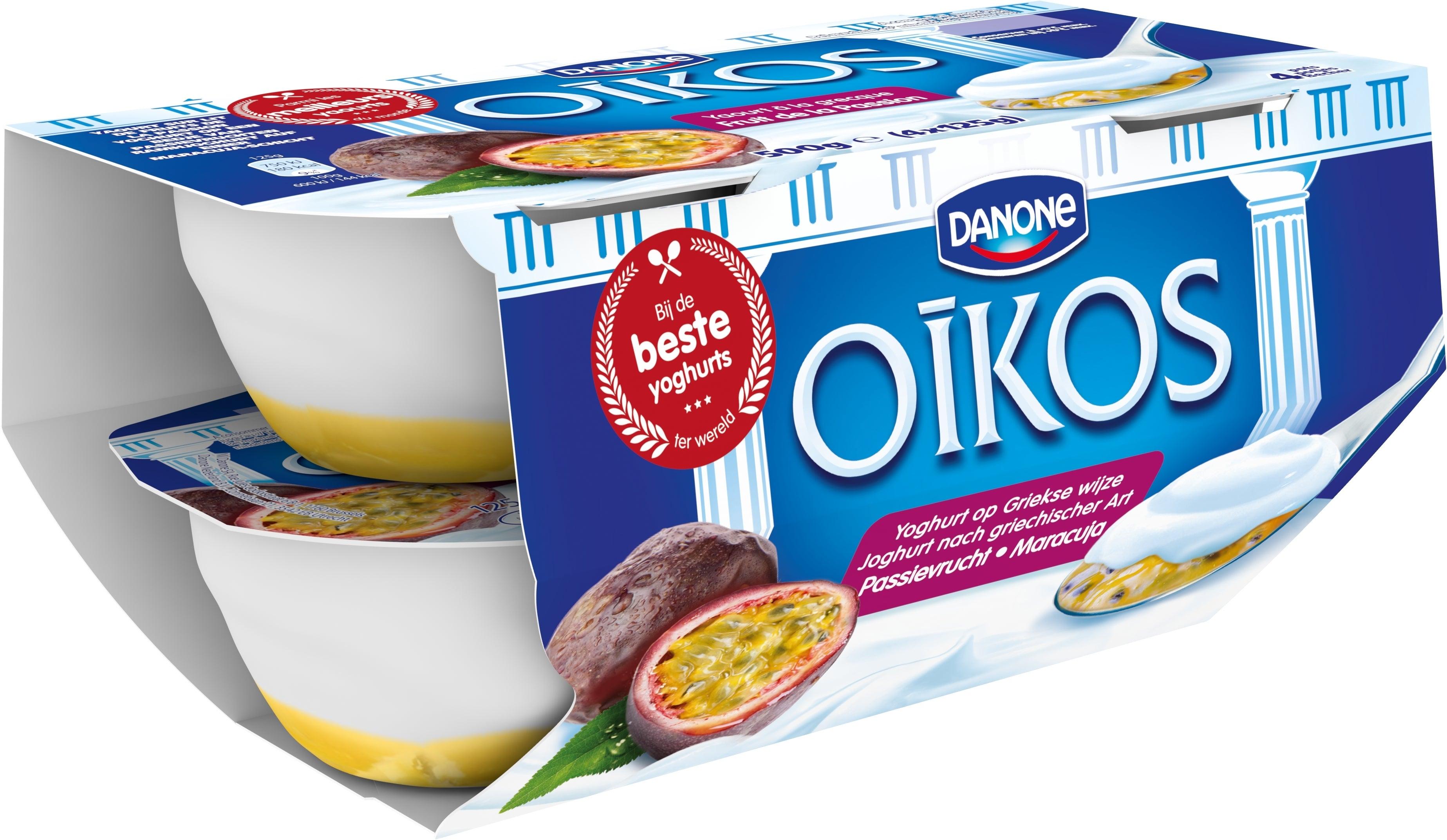 Oikos Yaourt entier Fruits de la Passion 4x125g