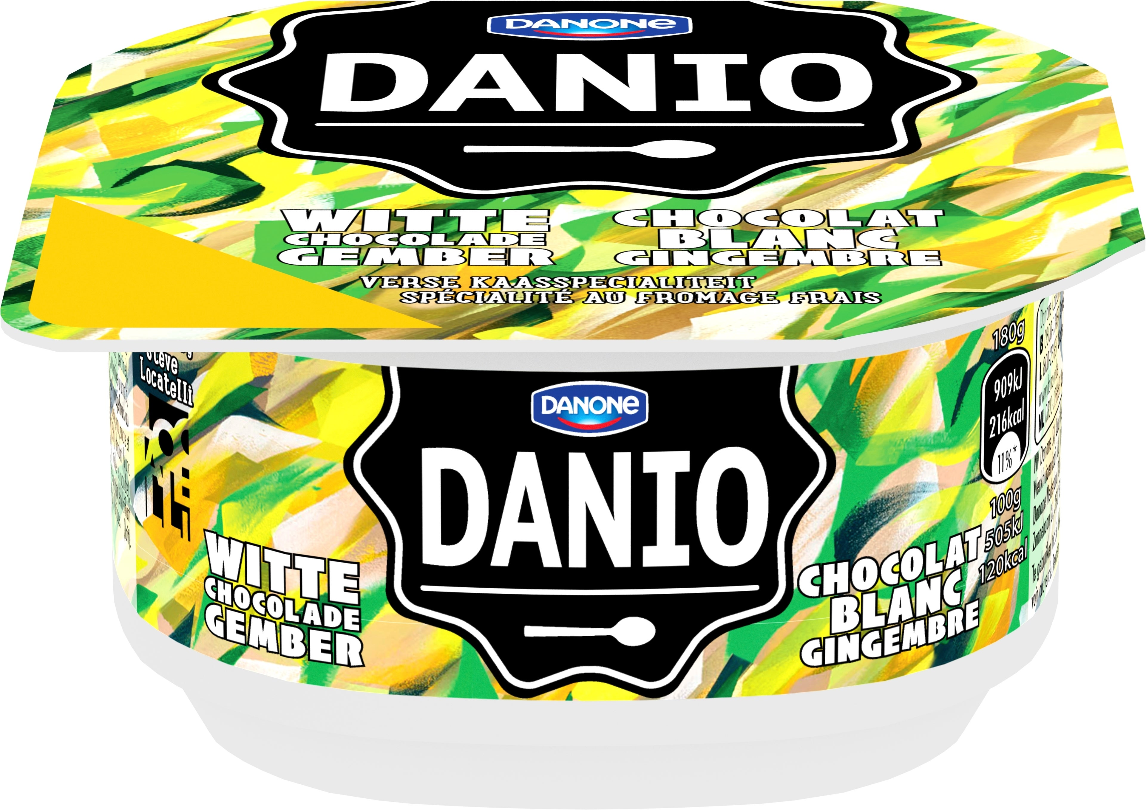 Danio Chocolat Blanc Gingembre 180g