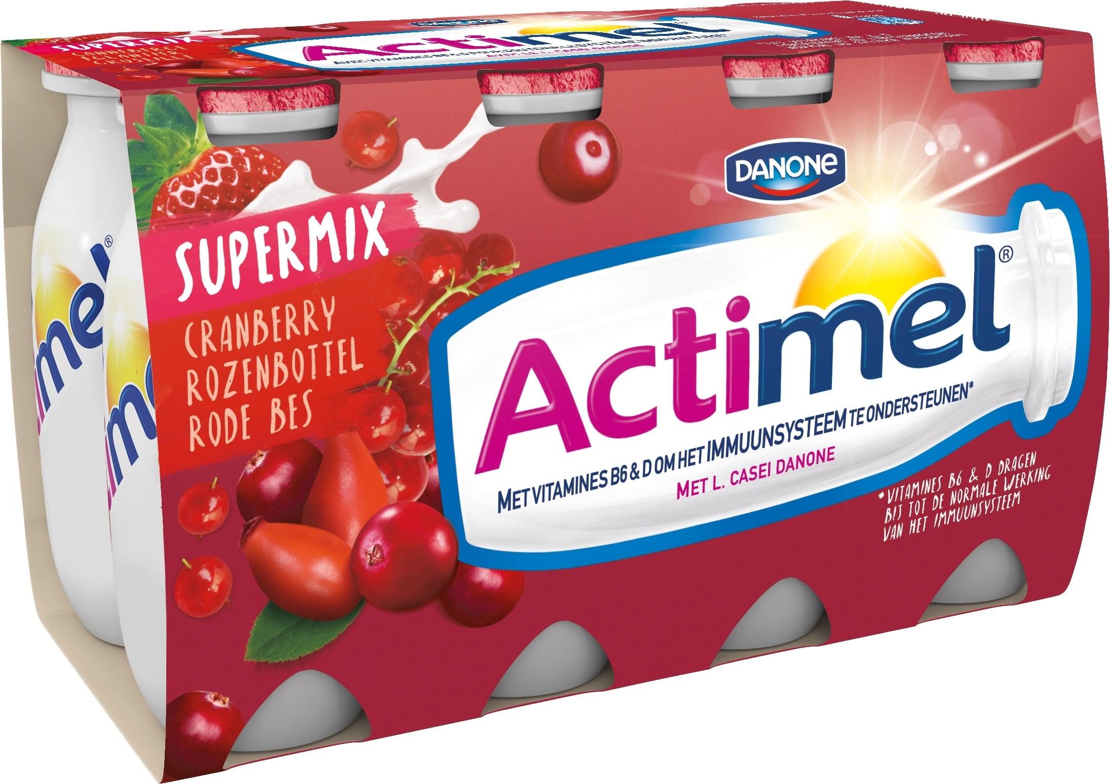 Actimel Drink 8x100ml met rode bessen