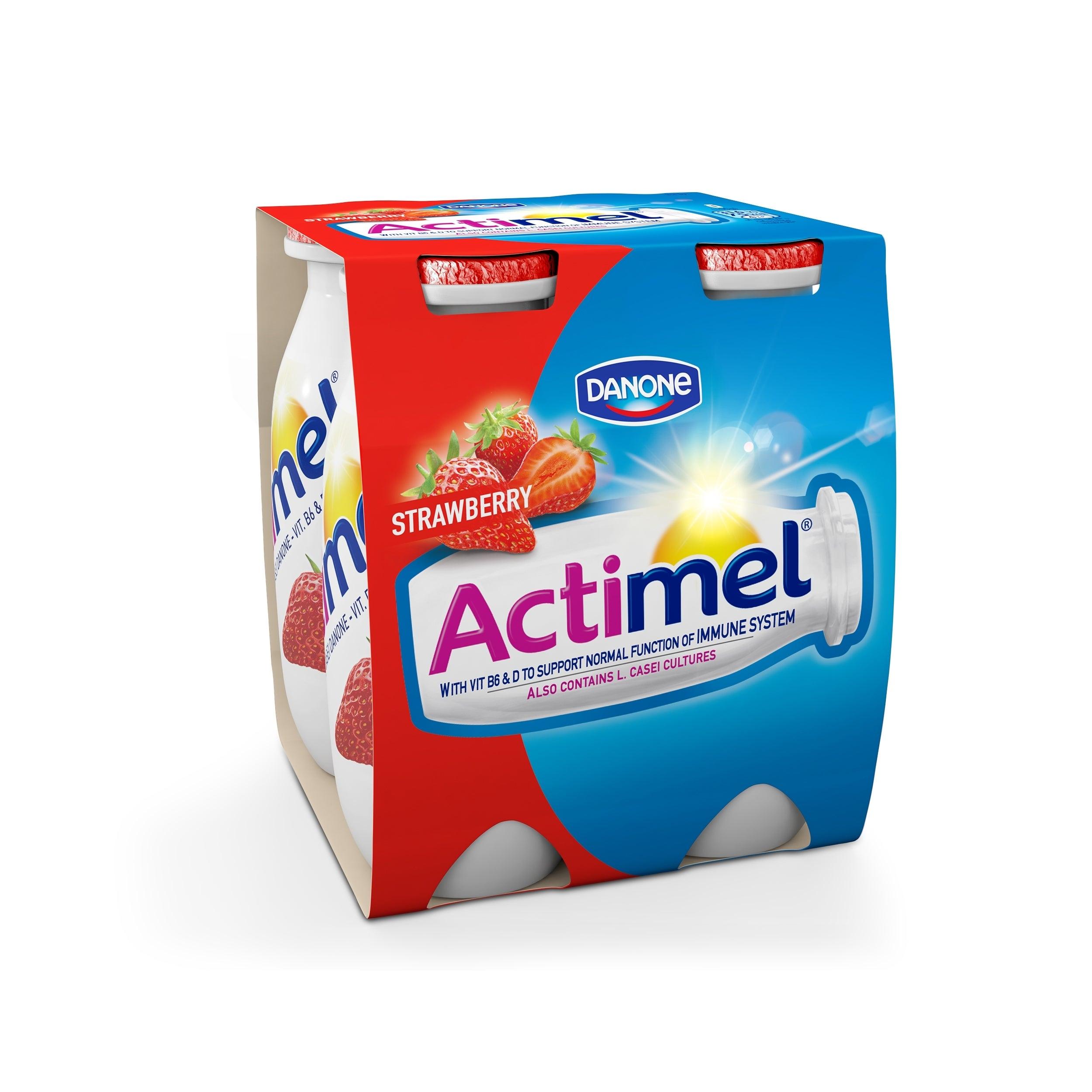 Actimel aardbei 4x100ml