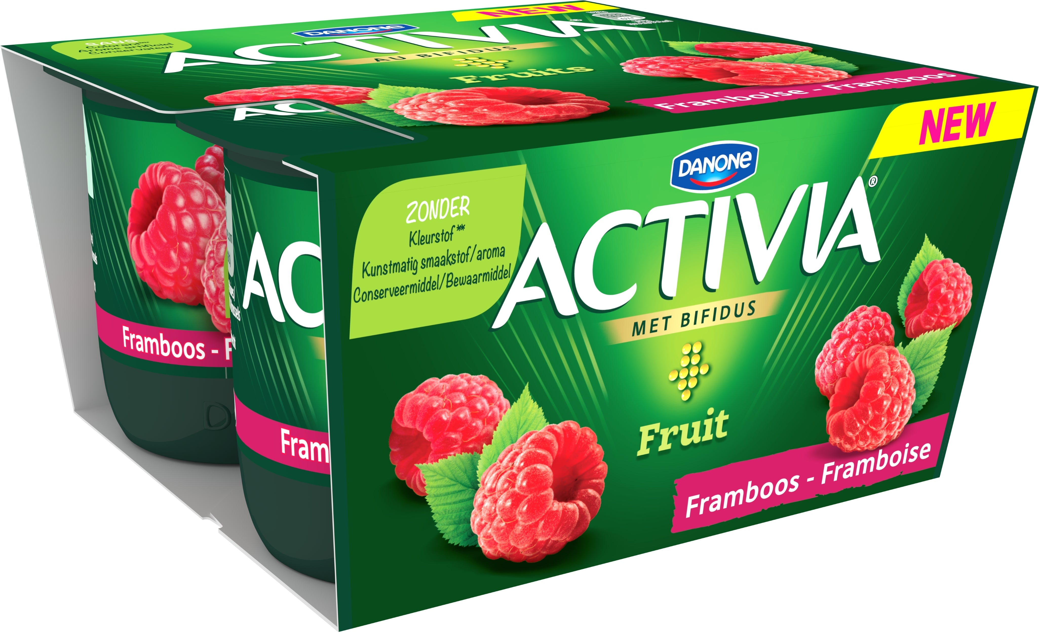 Activia Framboise Entier 4x125g