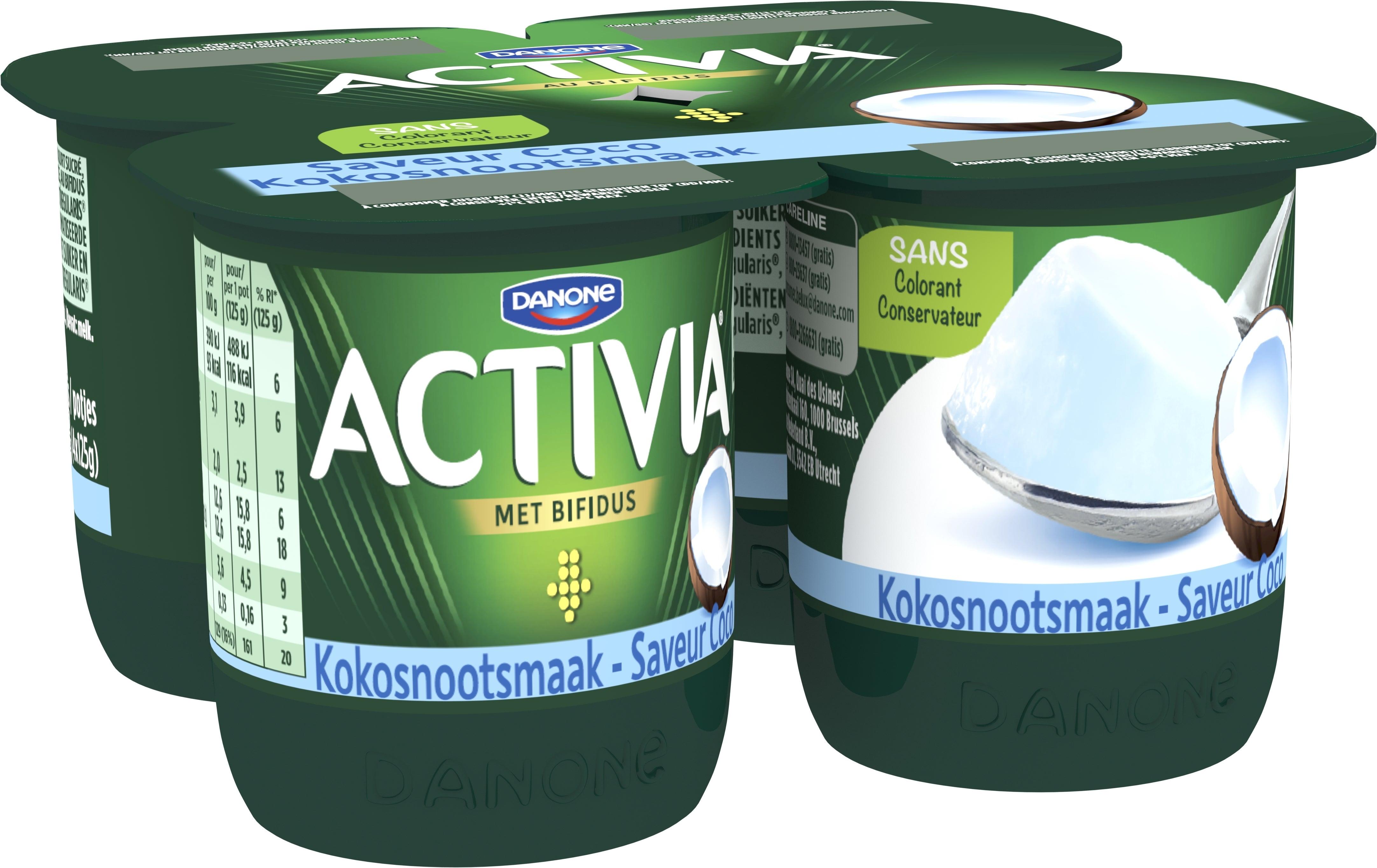 Activia Yaourt Saveur Coco 4x125g