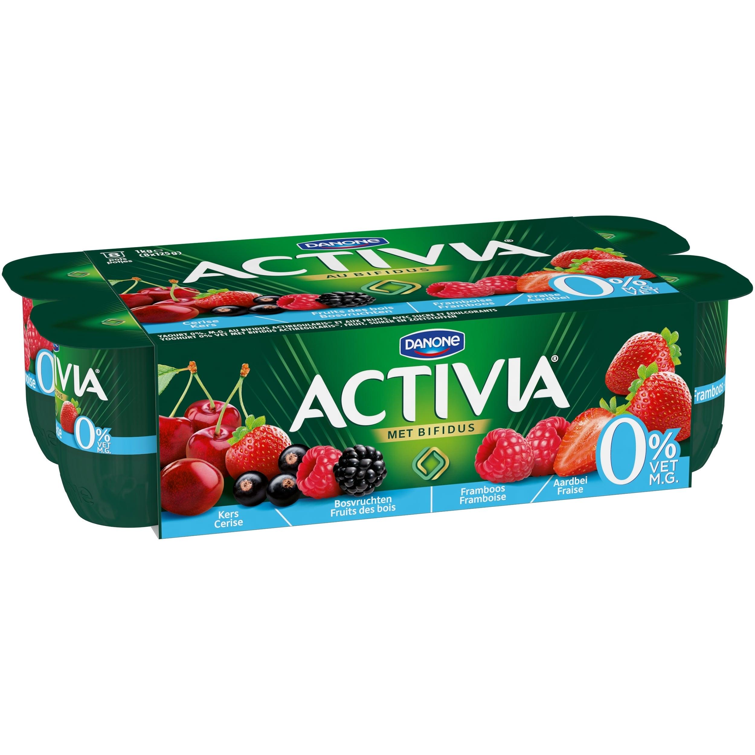 Activia 0% Fruit - Cerise Fruits des Bois Framboise Fraise