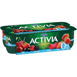 Activia 0% Fruit - Kers Bessen Framboos Aardbei
