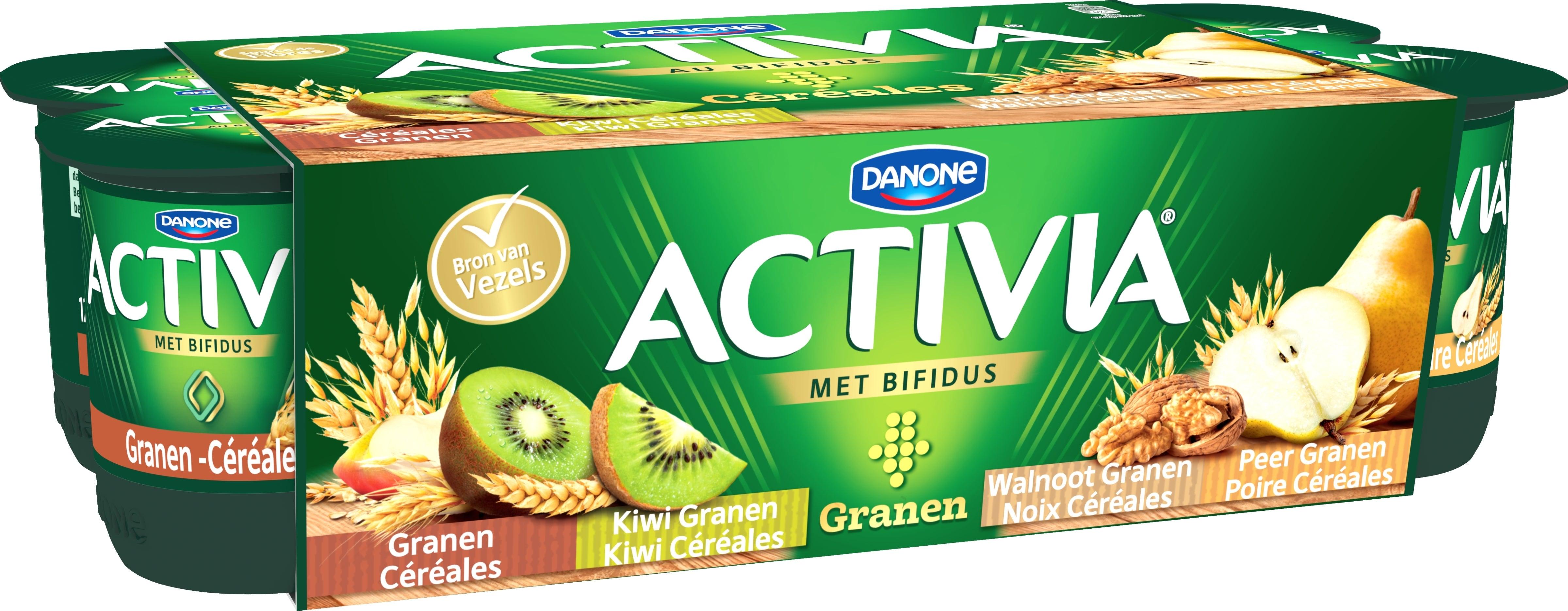 Activia yog. céréales 8x125gr