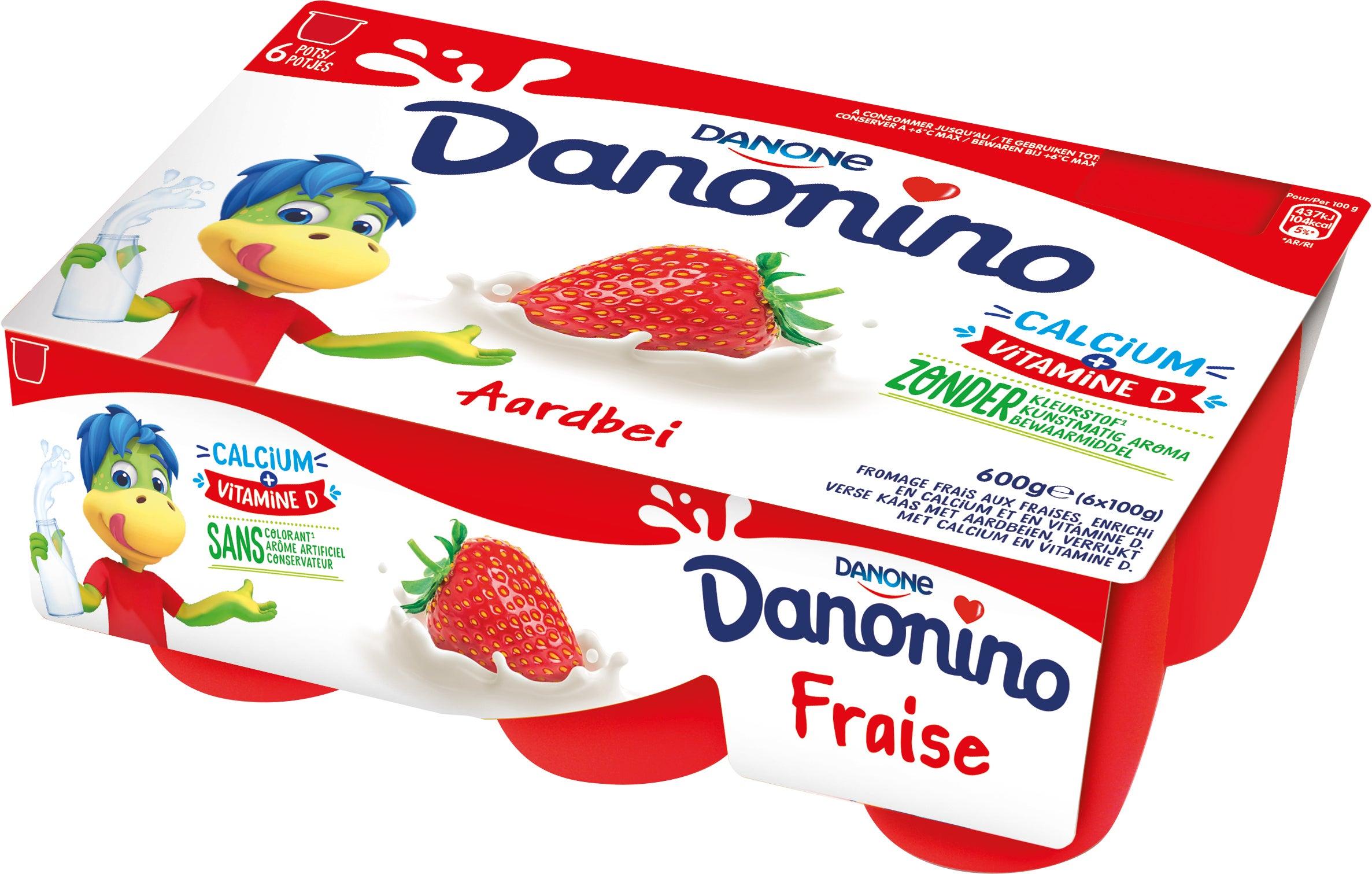 Danonino Aardbei 6x100g