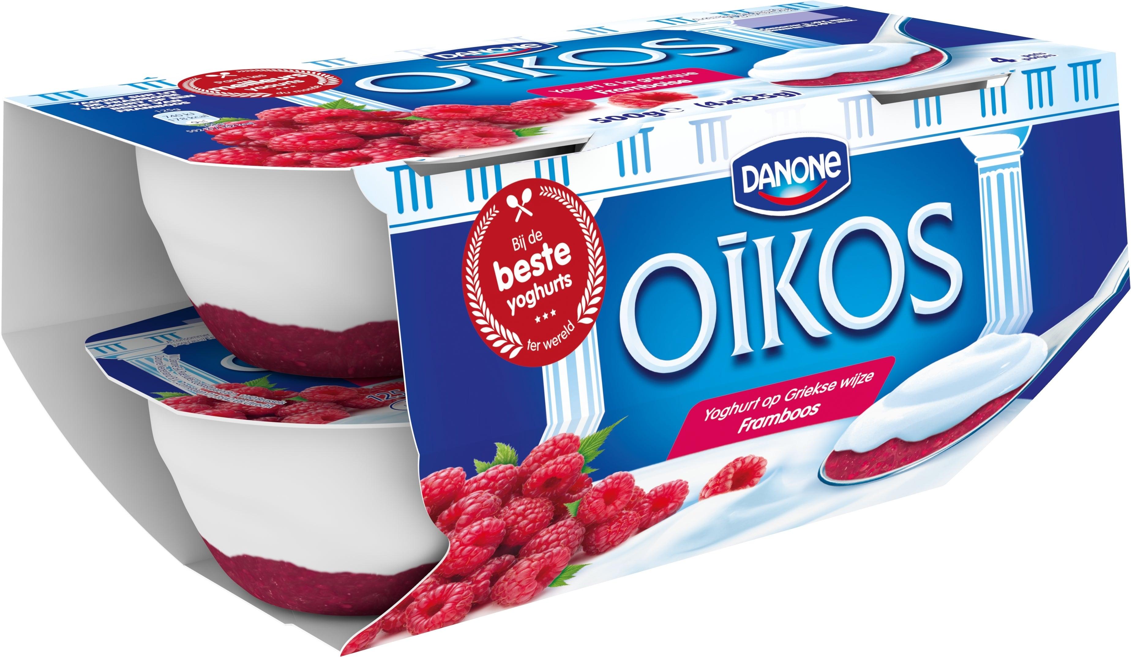 Oikos Yoghurt Vol Framboos 4x125g
