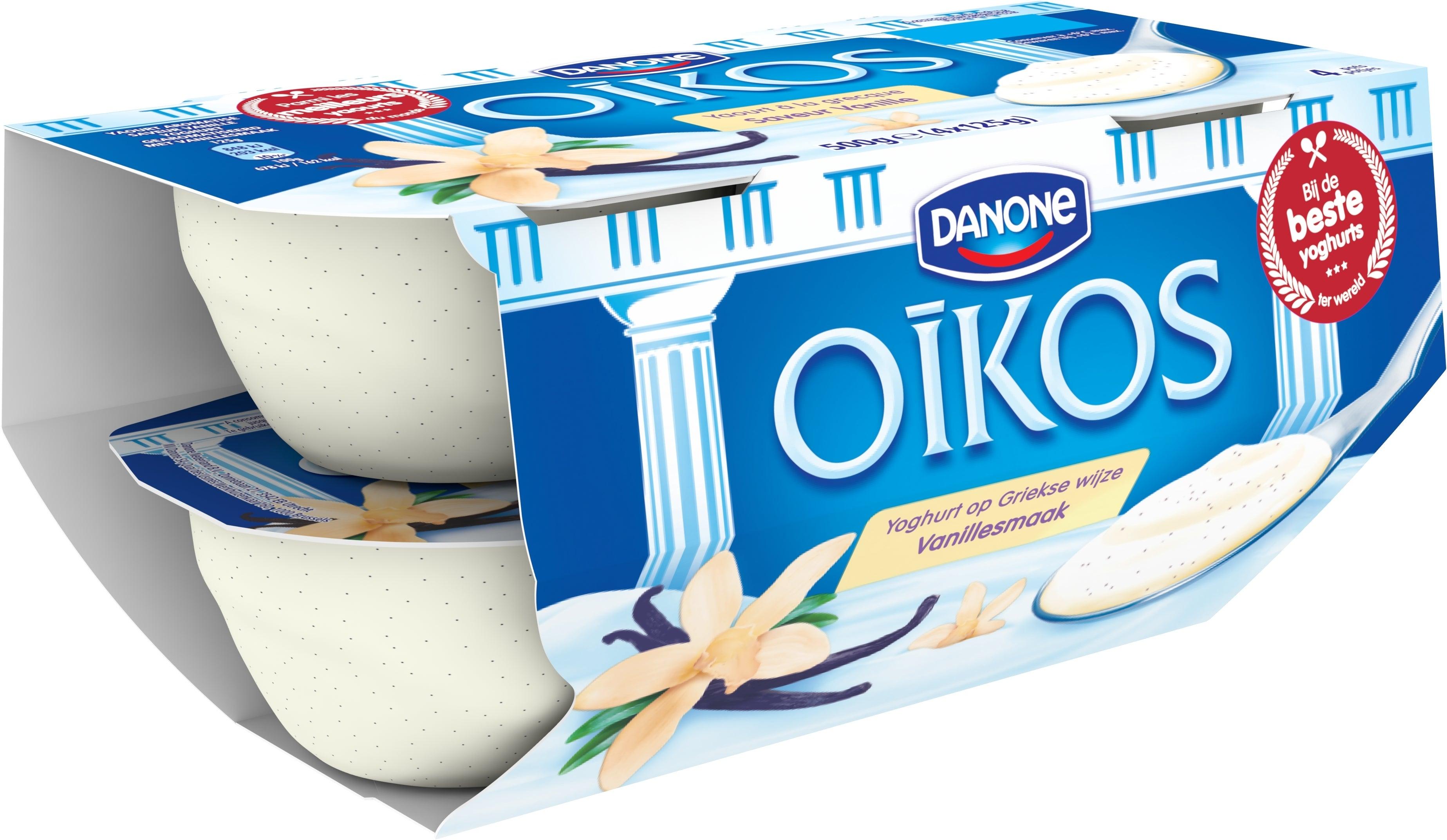 Oikos Yoghurt Vol Vanille 4x125g