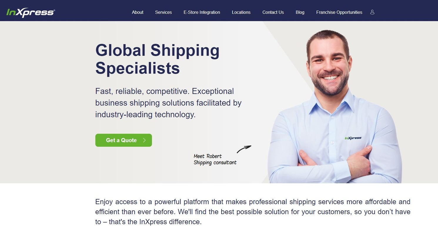 Redesigned Website for InXpress