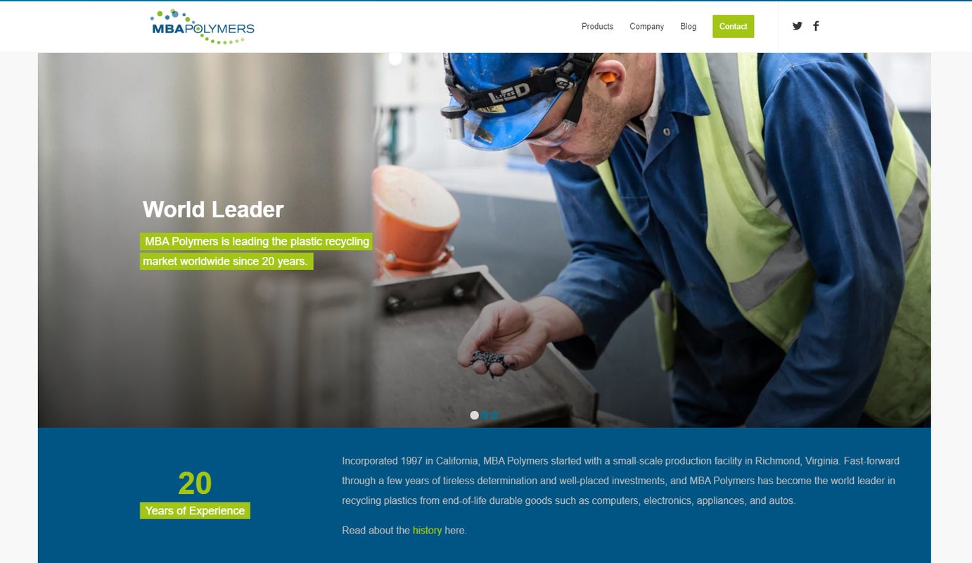 New website launch for MBA Polymers
