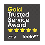 Feefo Gold Trusted Service Award 2019 logo