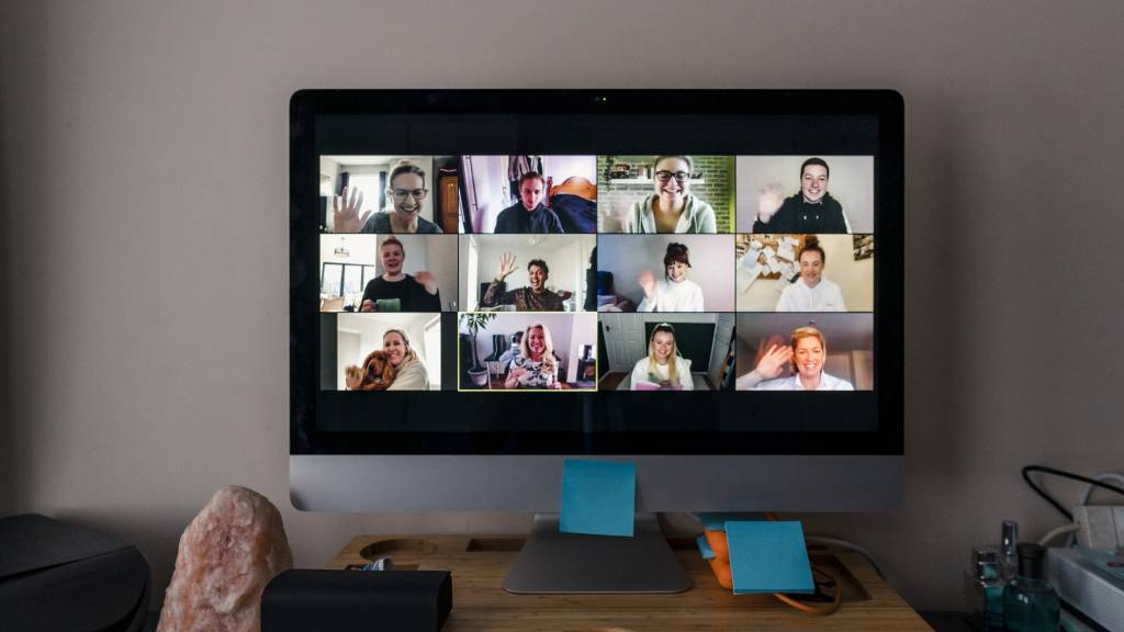 video conference call with many users