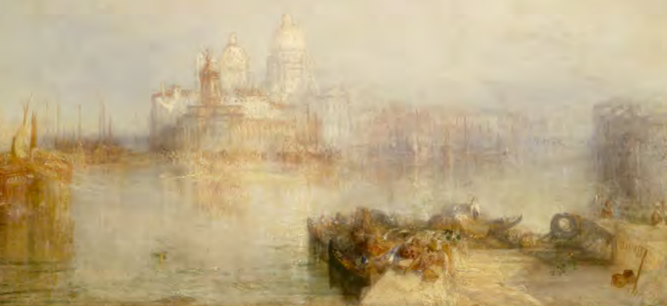 Joseph Malloard William Turner, The Dogana and Santa Maria della Salute, Vince. National Gallery of Art, Given in memory of Governor Alvan T. Fuller by the Fuller Foundation, 1961.2.3