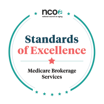 Seal for the National Council on Aging's Medicare Brokerage Services Standards of Excellence
