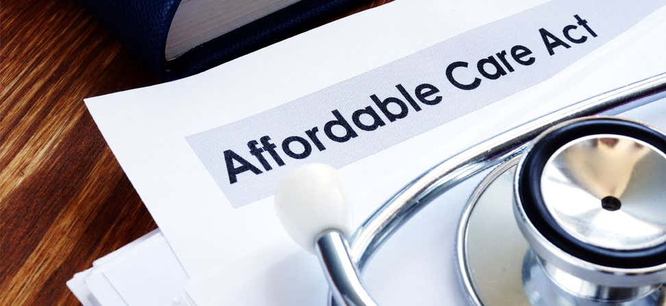 A copy of the Affordable Care Act with a stethoscope