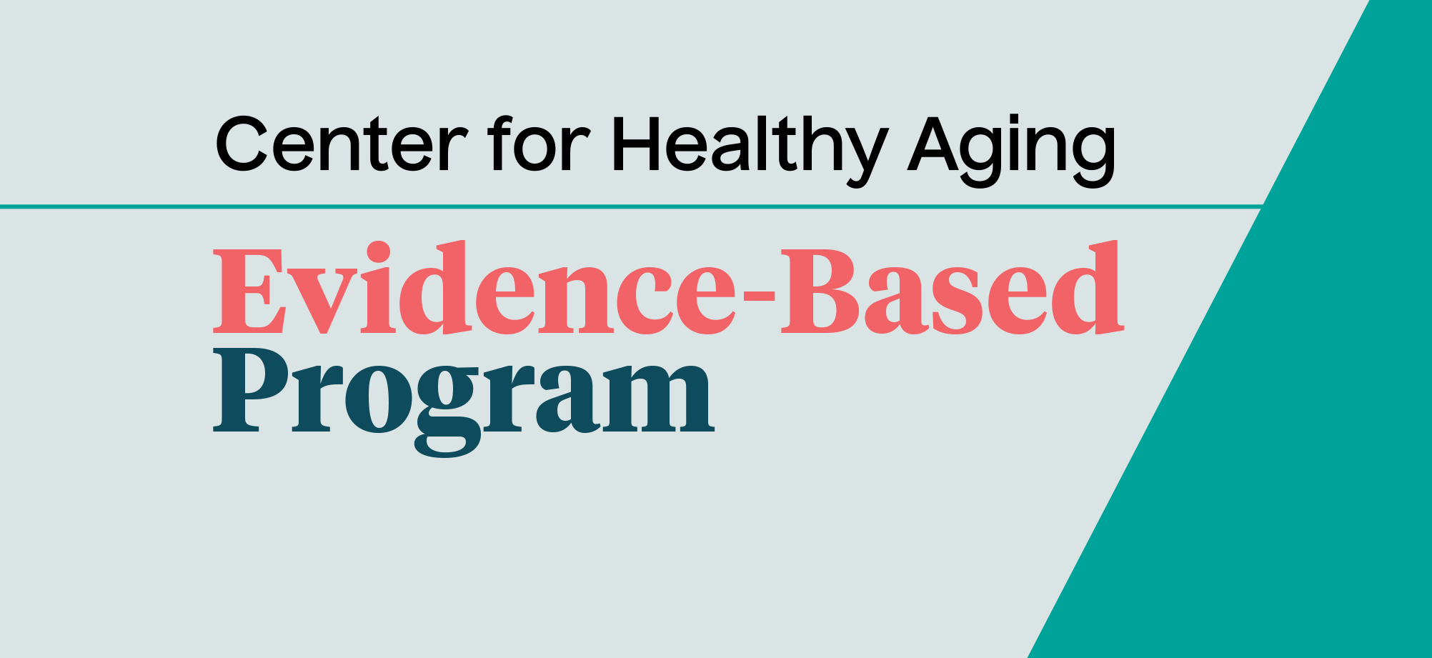 "An ""Evidence-Based Program"" banner from NCOA's Center of Healthy Aging."