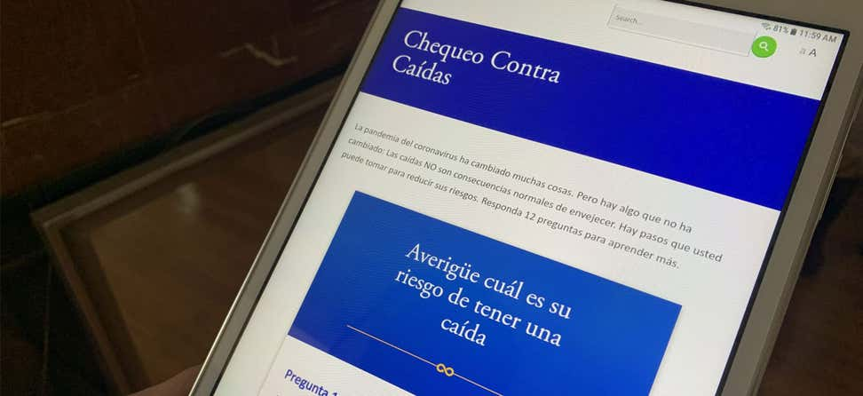 Spanish Falls Free Checkup on Tablet