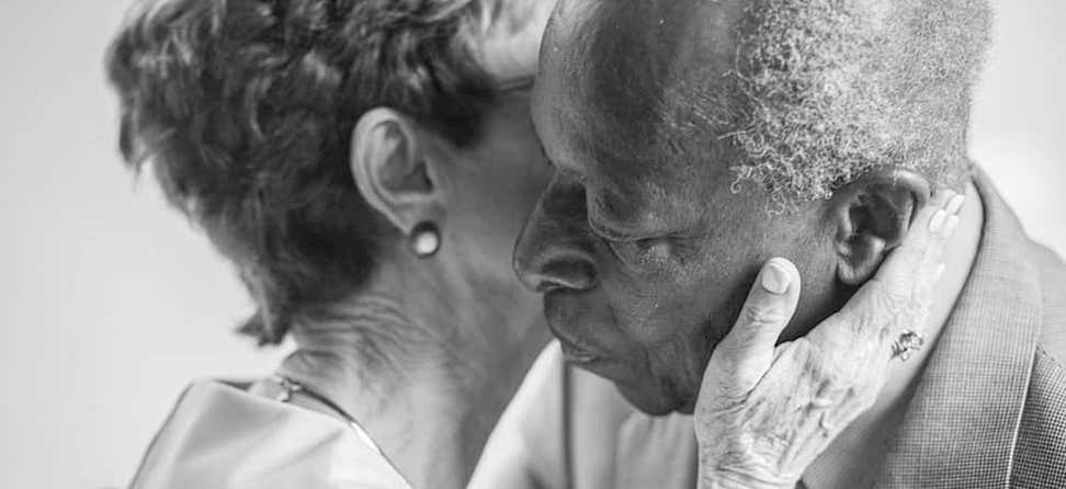 """A Loving Touch"" is the 2019 NCOA Photo Contest Winner, showcasing the richness in aging well."