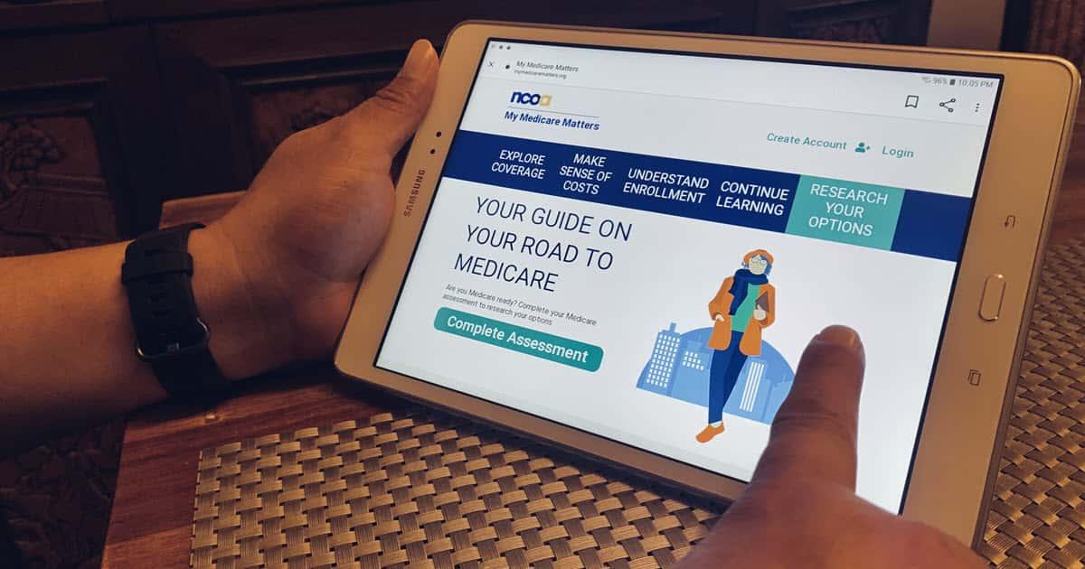 My Medicare Matters website on a tablet