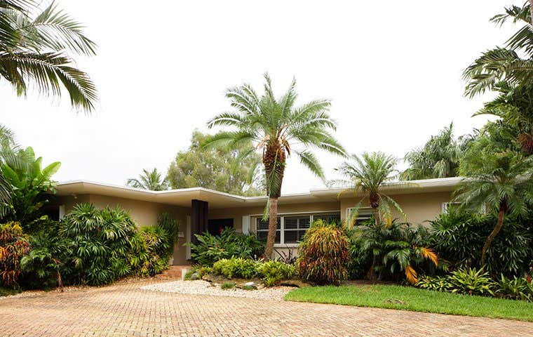 view from the driveway of a wellington florida home